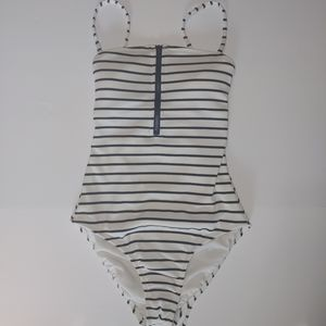 Striped Swimsuit, S